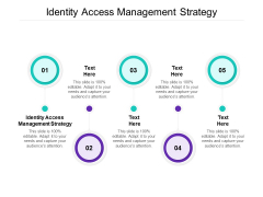 Identity Access Management Strategy Ppt PowerPoint Presentation Infographics Infographic Template Cpb