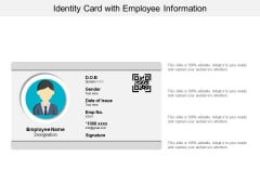 Identity Card With Employee Information Ppt PowerPoint Presentation File Rules