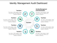 Identity Management Audit Dashboard Ppt PowerPoint Presentation Infographics Brochure Cpb