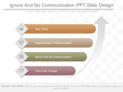 Ignore And No Communication Ppt Slide Design