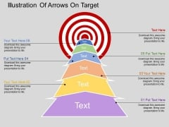 Illustration Of Arrows On Target Powerpoint Templates