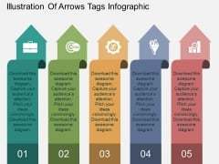Illustration Of Arrows Tags Infographic Powerpoint Template
