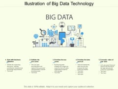Illustration Of Big Data Technology Ppt PowerPoint Presentation Pictures Slide Download