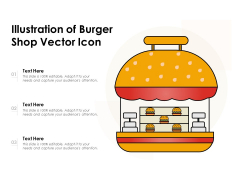 Illustration Of Burger Shop Vector Icon Ppt PowerPoint Presentation Inspiration Samples