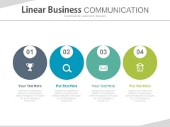 Illustration Of Business Communication And Time Management Powerpoint Template