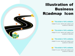 Illustration Of Business Roadmap Icon Ppt PowerPoint Presentation Layouts Topics
