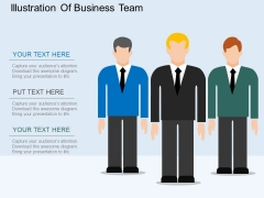 Illustration Of Business Team Powerpoint Template