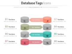 Illustration Of Database Tags And Icons Powerpoint Slides