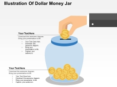 Illustration Of Dollar Money Jar Powerpoint Templates