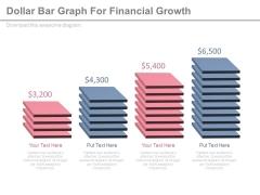 Illustration Of Dollar Value Slabs Powerpoint Slides