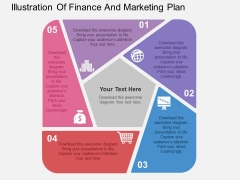 Illustration Of Finance And Marketing Plan Powerpoint Templates
