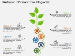 Illustration Of Gears Tree Infographic Powerpoint Templates