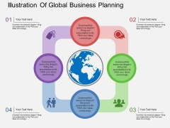 Illustration Of Global Business Planning Powerpoint Template