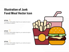 Illustration Of Junk Food Meal Vector Icon Ppt PowerPoint Presentation Show Templates