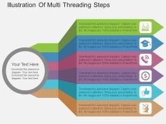 Illustration Of Multi Threading Steps Powerpoint Template