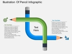 Illustration Of Pencil Infographic Powerpoint Templates