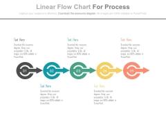 Illustration Of Progressive Arrows Chart Powerpoint Template