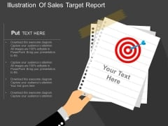 Illustration Of Sales Target Report Powerpoint Template
