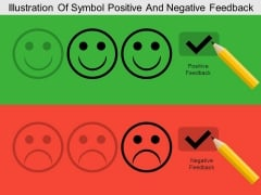 Illustration Of Symbol Positive And Negative Feedback Powerpoint Templates