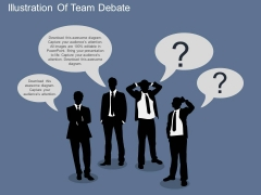 Illustration Of Team Debate Powerpoint Template