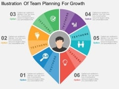 Illustration Of Team Planning For Growth Powerpoint Templates