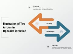 Illustration Of Two Arrows In Opposite Direction Ppt PowerPoint Presentation Inspiration Graphics Pictures
