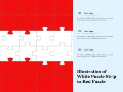 Illustration Of White Puzzle Strip In Red Puzzle Ppt PowerPoint Presentation Pictures Elements PDF