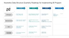 Illustrative Data Structure Quarterly Roadmap For Implementing BI Program Themes