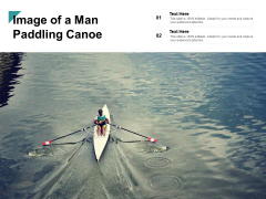 Image Of A Man Paddling Canoe Ppt PowerPoint Presentation Styles Graphic Images