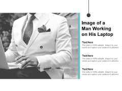 Image Of A Man Working On His Laptop Ppt PowerPoint Presentation Gallery Background Image
