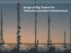 Image Of Big Towers For Telecommunication Infrastructure Ppt PowerPoint Presentation Show Backgrounds