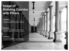 Image Of Building Corridor With Pillars Ppt PowerPoint Presentation Inspiration Elements