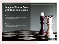 Image Of Chess Board With King And Queen Ppt PowerPoint Presentation Styles Visuals
