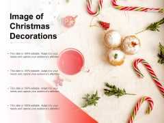 Image Of Christmas Decorations Ppt Powerpoint Presentation Portfolio Sample