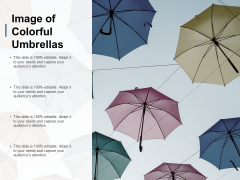Image Of Colorful Umbrellas Ppt PowerPoint Presentation Show Graphics