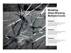 Image Of Cracked Glass With Text Holders Ppt PowerPoint Presentation Layouts Demonstration