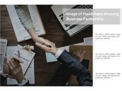 Image Of Handshake Showing Business Partnership Ppt PowerPoint Presentation Styles Microsoft