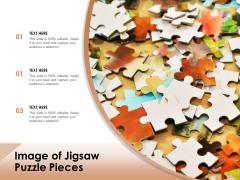 Image Of Jigsaw Puzzle Pieces Ppt PowerPoint Presentation Portfolio Clipart Images