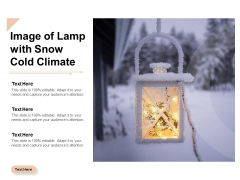 Image Of Lamp With Snow Cold Climate Ppt PowerPoint Presentation Pictures Layout