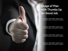 Image Of Man With Thumbs Up For Good Job Ppt PowerPoint Presentation Show Picture