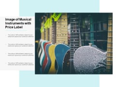 Image Of Musical Instruments With Price Label Ppt PowerPoint Presentation Outline Slides