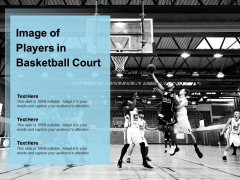 Image Of Players In Basketball Court Ppt PowerPoint Presentation Portfolio Clipart Images