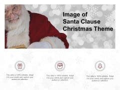 Image Of Santa Clause Christmas Theme Ppt PowerPoint Presentation Pictures Tips