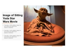 Image Of Sitting Yoda Star Wars Movie Ppt PowerPoint Presentation Portfolio Summary