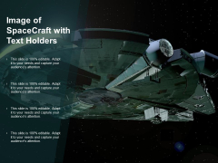Image Of Spacecraft With Text Holders Ppt PowerPoint Presentation Slides Demonstration
