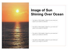 Image Of Sun Shining Over Ocean Ppt Powerpoint Presentation Gallery Aids