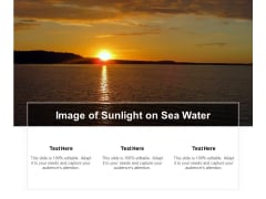 Image Of Sunlight On Sea Water Ppt Powerpoint Presentation Infographics Topics