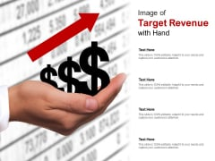 Image Of Target Revenue With Hand Ppt PowerPoint Presentation Portfolio Images