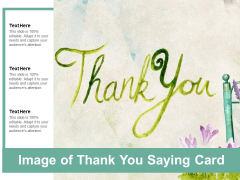 Image Of Thank You Saying Card Ppt Powerpoint Presentation Pictures Rules