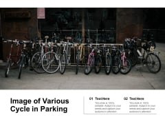 Image Of Various Cycle In Parking Ppt PowerPoint Presentation Gallery Portrait